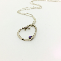 Handmade Sterling Silver Iolite Gemstone Necklace