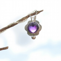 Amethyst Sterling Silver Pendant Necklace