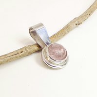 Morganite Sterling Silver Pendant