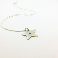 Personalised Silver Star Pendant Necklace