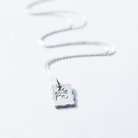 Sterling Silver Hand Stamped Pendant