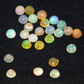 Five 4MM Round Cabochon Welo Opals - Gorgeous play of colour