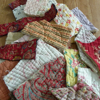 Antique Welsh quilt Scraps