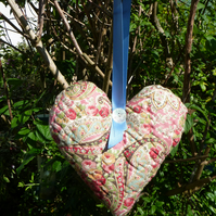 Antique quilted heart