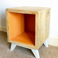 Rustic vinyl storage unit, record storage cube, stereo stand with record stand