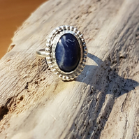 Sterling Silver Sodalite Gemstone ring