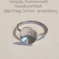 Steing Silver Dome Ring
