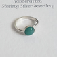 Sterling Silver Green Agate Stone Ring
