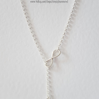 Infinity Lariat Necklace