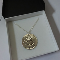 Personalised Sterling Silver Disc Necklace