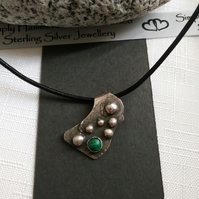 Malachite Bubbles Necklace