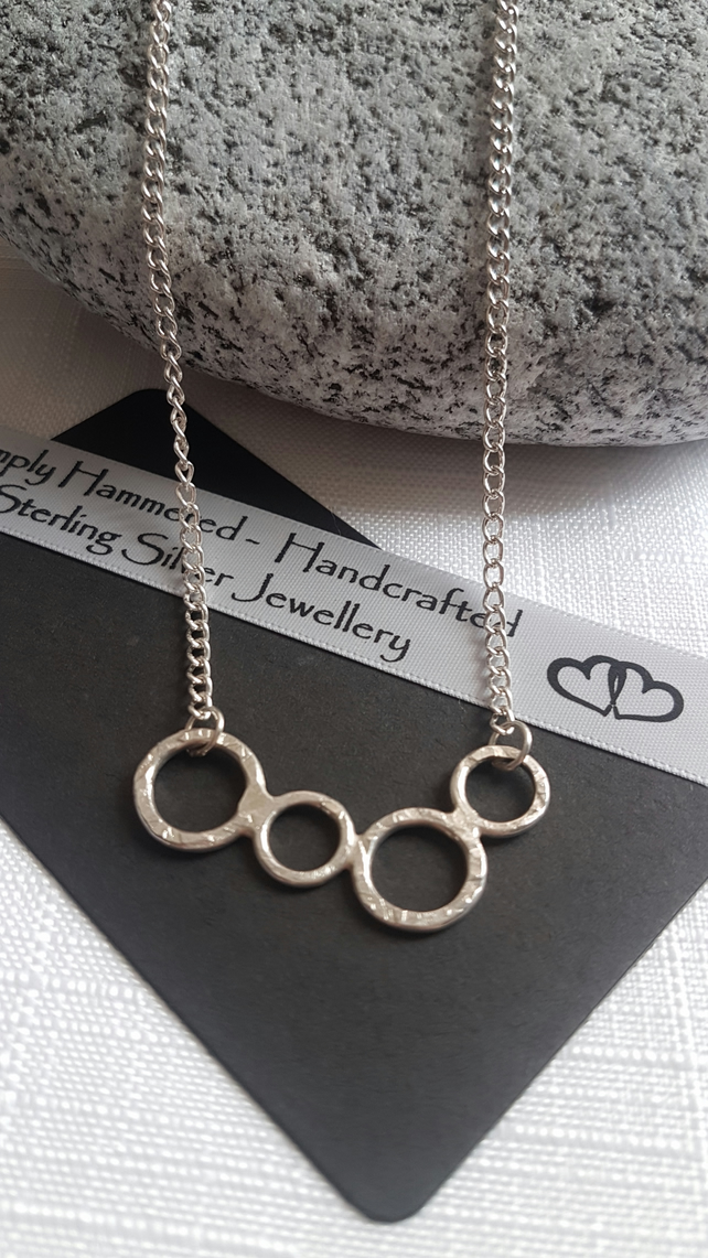 Hammered Family Circles Necklace