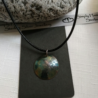 Oxidized Dome Necklace