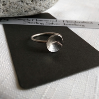 Small Sterling SIlver Dome ring
