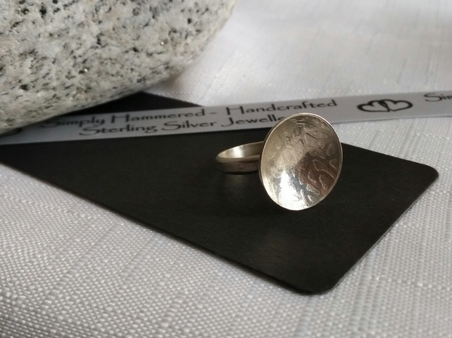 Sterling Silver Large Dome Ring