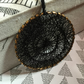 gold hoop and black thread with shrinking circles dream catcher decoration