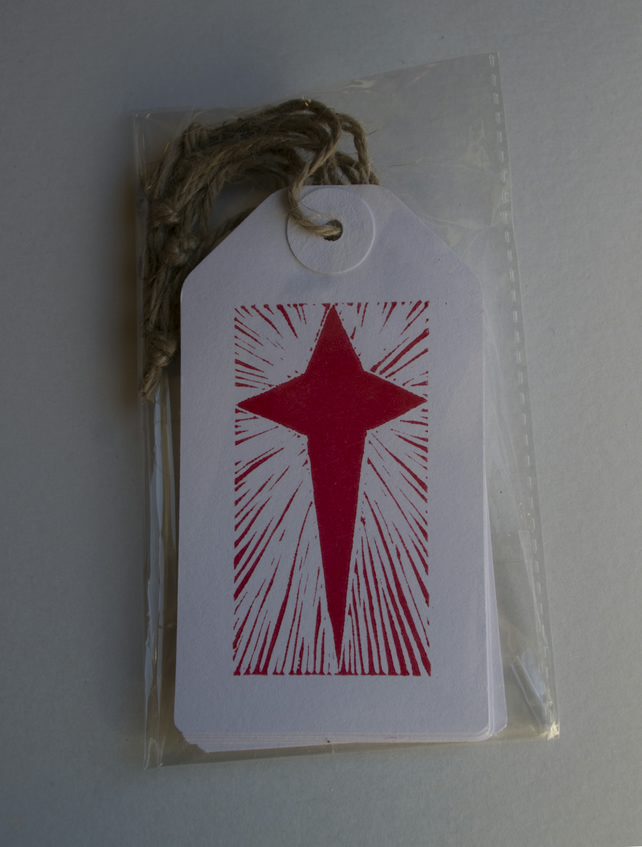 Shining star tags, pack of 5