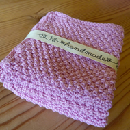 Knitted Cotton Washcloth Set