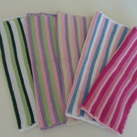 Knitted Cotton Stripe Dishcloth