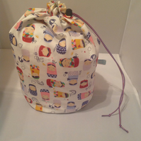 Large Russian dolls  project bag