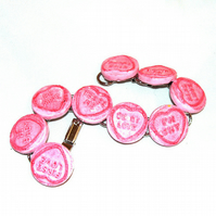 Love Hearts resin candy bracelet