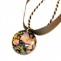 William Morris style resin necklace