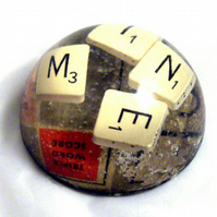 Scrabble resin paperweight- MINE