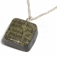 Recycled Enid Blyton book resin pendant