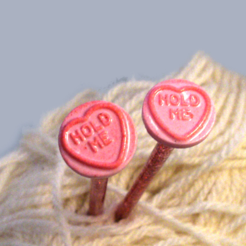 Hold Me Resin Sparkly Knitting Needles