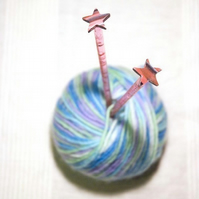 Shooting Star Sparkly Knitting Needles
