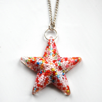 Sprinkle Star resin pendant