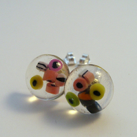Liquorice Allsorts stud post earrings