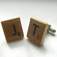 Scrabble tile cufflinks - made to order