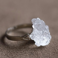 Ice crystal resin adjustable ring