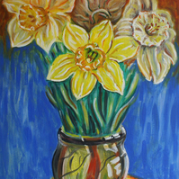 "Original Painting ""Daffodils"""