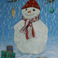 "Original Painting ""Holly's First Snowman"""