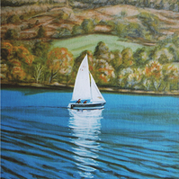 Autumn on Windermere original painting