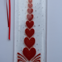 Valentines Gift idea Fused Glass Heart Suncatcher