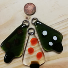 Christmas tree decoration single fused glass suncatcher