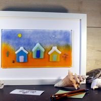 Three Beach Huts scene