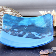 Medium Blues Mosaic style dish