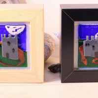 Castle and Dragon framed mini panels