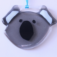 Koala Suncatcher Fused Glass