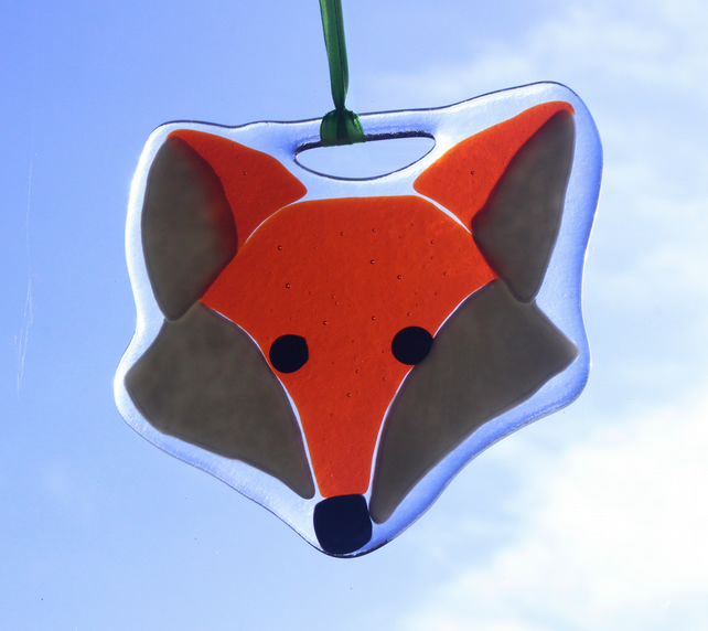 Fox Suncatcher Fused Glass