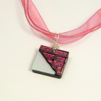 Sparkling Pink Pendant Necklace