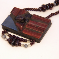 Garnet Mosaic necklace pendant