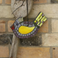 Yellow Winged Mosaic Bird, Suitable for Garden or Home