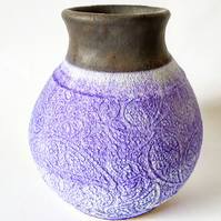 Ceramic Vase in Blue Glazes