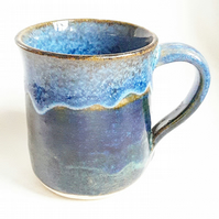 Coffee Mug in Blue Glazes