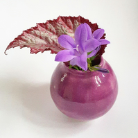 Miniature Purple Pink Vase
